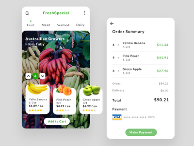 Grocery Delivery Service graphic dailyui uxdesign uidesign app interaction ux design ui service delivery grocery