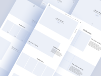 Fashion Brand Web Page Wireframes