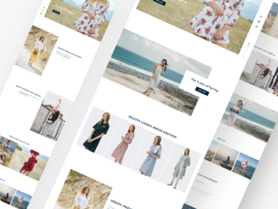 Fashion Brand Web Pages (Different Versions) concept webpage dailyui graphic uxdesign uidesign app interaction ux ui design fashion design fashion brand website page web brand fashion
