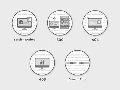HTTP Error Badges server error error 500 error 403 error 404 error page httperror http
