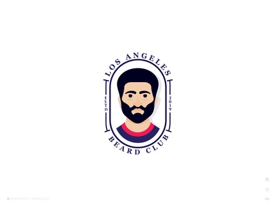 Los Angeles Beard Club  logo