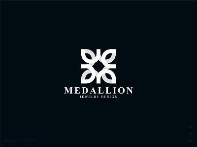 Medallion Logo bhagirath mono line symbol jewelery minimal geometic flower flat fashion emblem typography icon mark banding logo