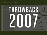 Throwback: First Portfolio Site