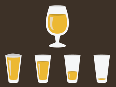 Snifter Icon with beer glass beer vector illustration