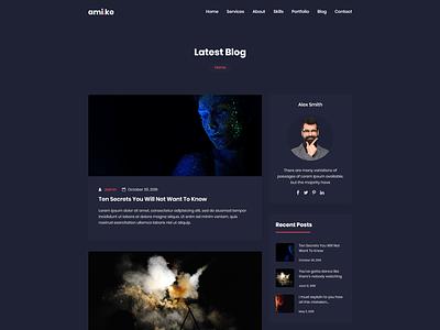 Amike - Personal Portfolio WordPress Theme resume portfolio photography modern elementor developer designer cv customizer creative clean blog agency