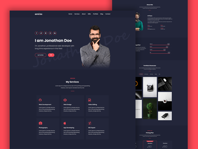 Amike - Personal Portfolio WordPress Theme resume portfolio photography modern elementor developer designer cv customizer creative clean blog agency