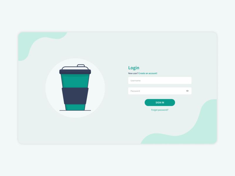 Wanna some coffee? illustration concept design flatdesign login uidesign uiux