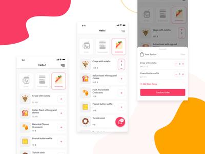 Food Ordering App Concept
