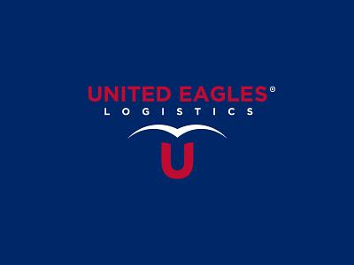 United Eagles corporate company tire eagle ui vector illustration brand guide branding icon brand identity brand logo design