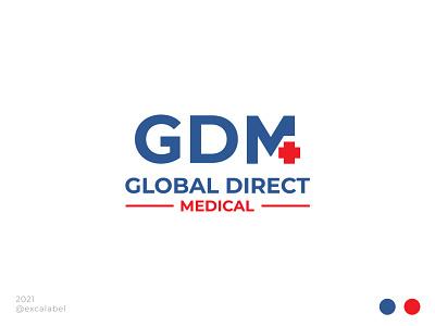 Global Direct Medical global health medical vector brand identity branding brand icon design logo