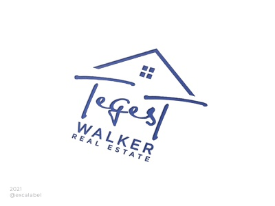 Tegest Walker Real Estate house home real estate vector ui illustration brand guide brand identity branding design icon brand logo