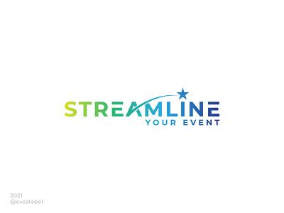 Streamline Your Event gradient event streamline vector brand identity branding design brand logo icon