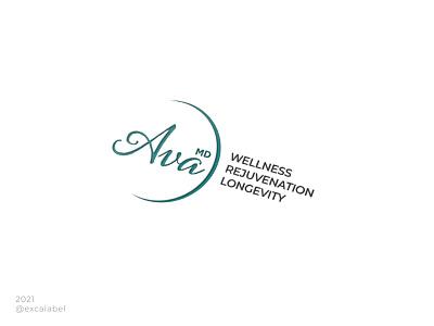 Ava MD beauty therapy aesthetics medical vector icon brand brand identity branding design logo