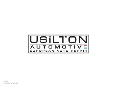 Usilton Automotive European Auto Repair european repair automotive auto vector brand guide illustration brand identity branding design logo brand icon