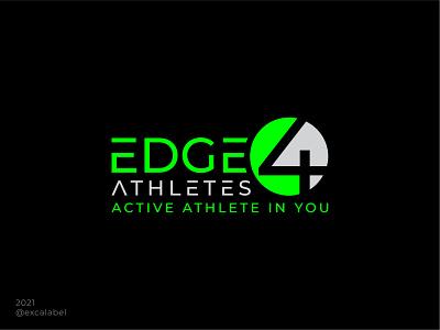 Edge 4 Athletes Logo product athlete sport brand identity branding design icon logo brand