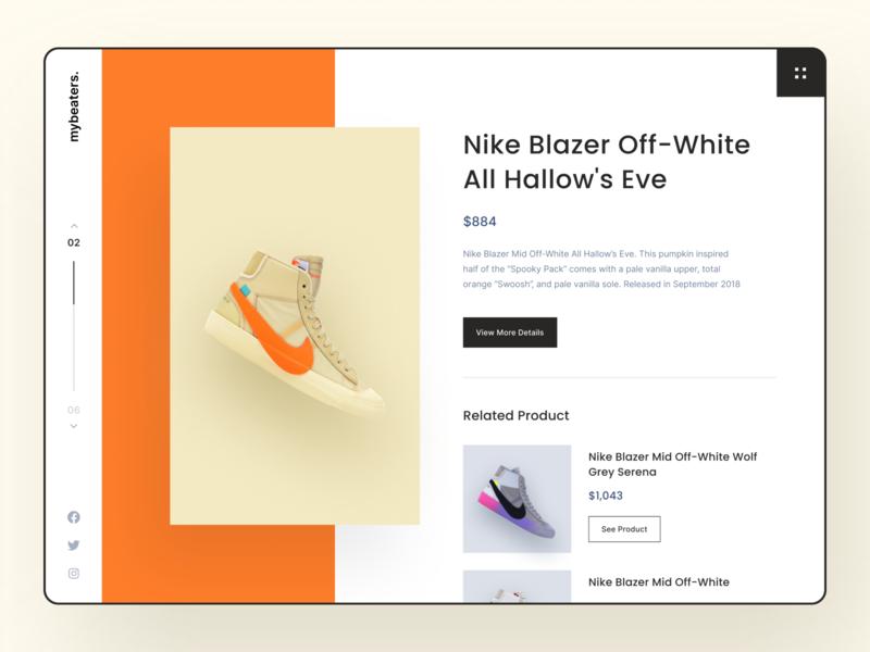 Sneakers Shop Exploration web design typography landing page modernism clean orange shop sneakers dashboard uidesign ui ux design