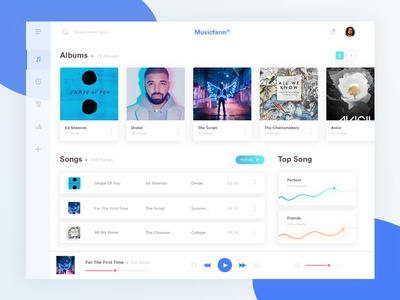 Musicfarm Dashboard ui design design web design music ux ui dashboard
