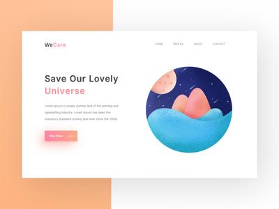 Save Universe - Landing Page site design web ui ux illustration landing page