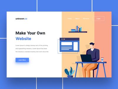 Make Your Own Website - Landing Page mobile site design web ui ux illustration landing page