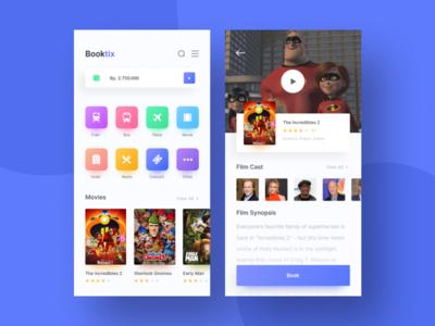 Booking App Exploration ticket web movie book app design app ui ux mobile