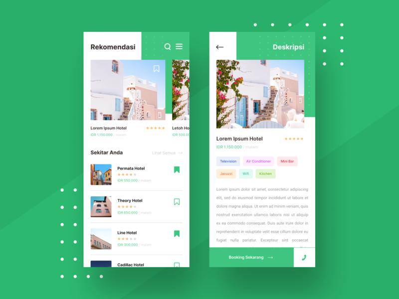Hotel App Exploration ui booking design uidesign web design ui ux dashboard mobile hotel app