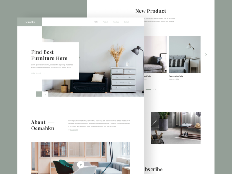 Furniture Store Landing Page chair ui landing page furniture store typography web web design ui ux design