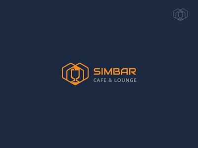Simbar Cafe symbol bar lion branding identity logo