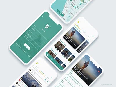 Travel app ux ui travel share flowselect concept card app