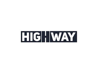 Highway logo identity graphic design calligraphy branding