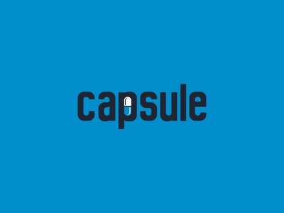 Capsule medical capsule logo identity icon graphic design calligraphy branding
