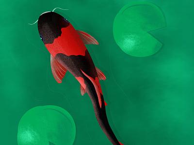 Fish procreate illustration graphic design