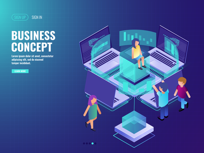 Business Concept - Infography ui  ux design illustration web design concept info graphic business