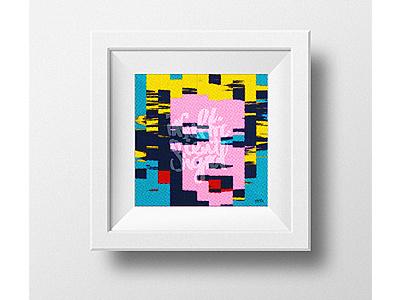 •👄 marilyn monroe  amirathan noori pop art glitch andywarhol glitch portrait marilyn monroe brush  hand writing calligraphy 
