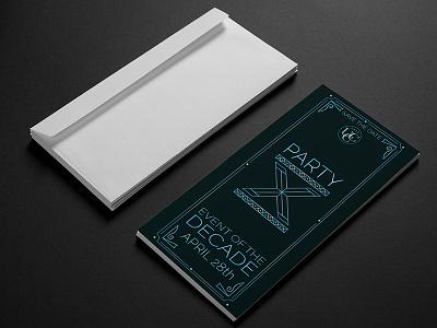 Party X Invitation party invite design print design print party invitation