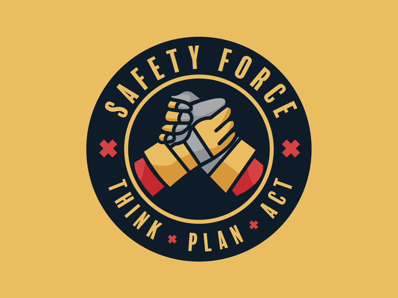 Safety Force concept logo design logo safety force safety emblem patch badge