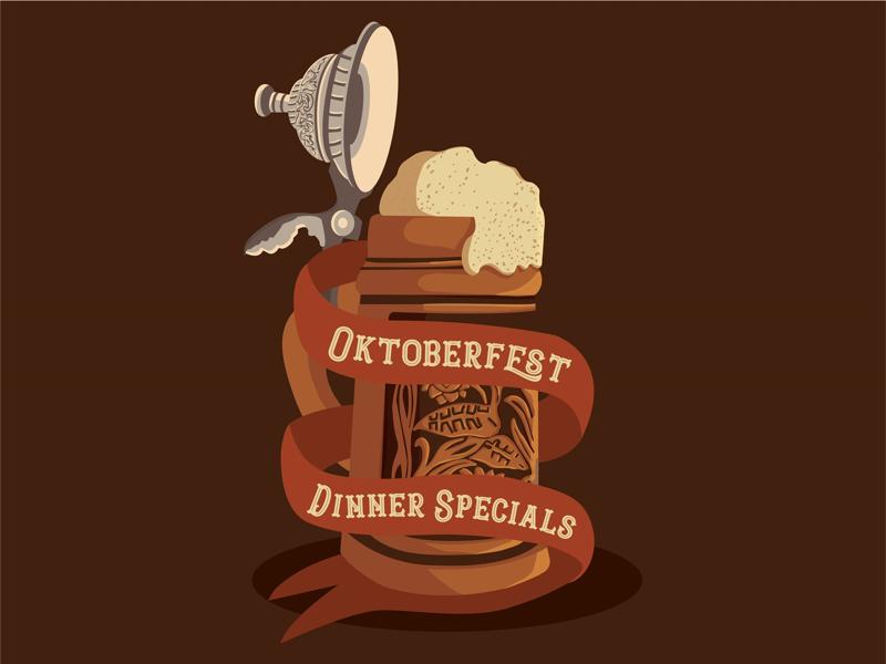 Oktoberfest Beer Stein flyer event poster october stein oktoberfest beer illustration design