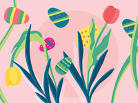 Easter Egg Hunt Illustration