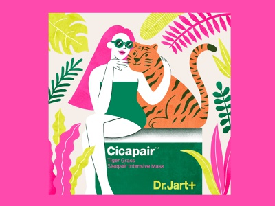 Dr. Jart+ Cicapair Illustration poster cover art beauty beauty brand skincare ad clean illustration art illustration