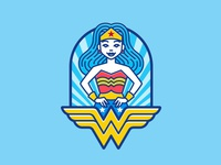 Superhero Badge - Wonder Woman