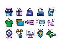 Fun E-commerce Icon Set