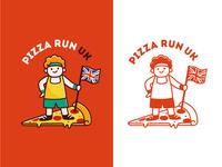 Fun logo design for Pizza Run UK