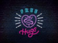 Free Hugs - Neon Sign