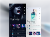 Aqua Music App - Mobile Screens