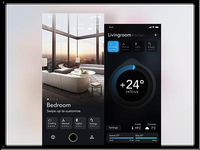 Smart Home App Concept design app home smart smarthome 3d ae debut ux transition smooth animation ui