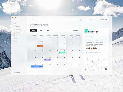 BlueBlue - Calendar Dashboard design minimal debut concept ux ui task flow task manager dashboard