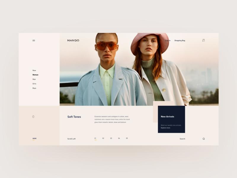 Fashion detail page muzli debut minimal minimal website clean ux ui campaign ecommerce fashion
