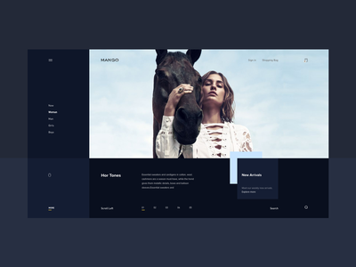 Fashion detail page dark version clean ecommerce ecomm fashion debut design concept minimal ux ui