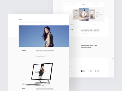 Mango Behance Showcase ecommerce light animation concept smooth debut minimal ux ui uiux clean ui clean fashion