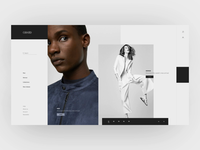 Fashion - Ecomm - Intro fashion light ecommerce ae muzli logodesign transition smooth minimal animation ux ui