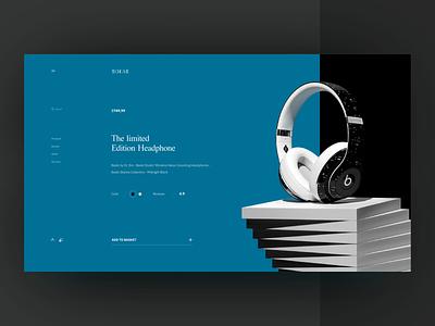 Product Detail Page uidesign ui  ux visual design electronics beats ecommence custom type design minimal ux ui